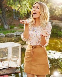 Vegan Suede Skirt BOHO 10 LC LAUREN CONRAD Lace up Faux Leather Mini NWT #LCLaurenConrad #PeasantBoho