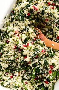The Festive Detox Salad with Cauliflower, Kale & Pomegranate - Blissful Basil | Plant-Based Vegan Recipes by Ashley Melillo
