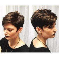 SUPER cute color and short cut by our lovely Color Director, Robin