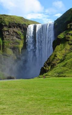 Seljalandsfoss, Iceland - 2 Romans For since the creation of the world God's invisible qualities--his eternal power and divine nature--have been clearly seen, being understood from what has been made, so that people are without excuse. Beautiful Waterfalls, Beautiful Landscapes, Places To Travel, Places To See, Wonderful Places, Beautiful Places, Fjord, Seen, Iceland Travel