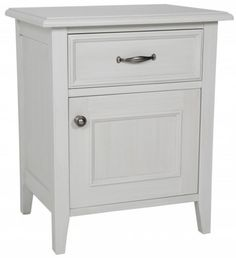Normandy Island Grey Door and Drawer Bedside Table 60H