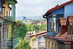Tbilissi : capitale de Géorgie - Balcons traditionnels
