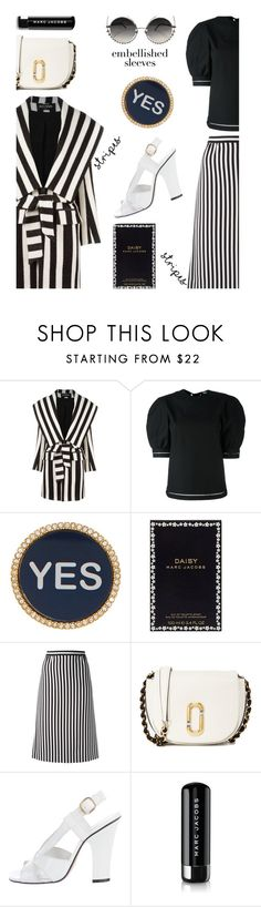 """""""Rock The Trend'"""" by dianefantasy ❤ liked on Polyvore featuring Balmain, J.W. Anderson, Marc Jacobs, polyvorecommunity, polyvoreeditorial and embellishedsleeves"""