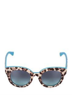 Dolce & Gabbana rounded leopard-printed sunglasses