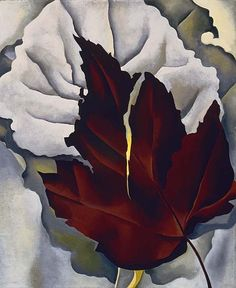 Georgia O'Keeffe - Pattern of leaves, oil on canvas, 22 x 18 in © The Georgia O'Keeffe Foundation Georgia O'keeffe, Alfred Stieglitz, Georgia O Keeffe Paintings, Charles Demuth, Pop Art Movement, New York Art, Abstract Painters, Art Institute Of Chicago, Community Art