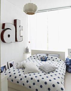Pattern textiled bedroom