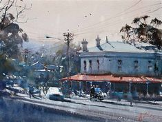 View Beer Oclock Daylesford by Joseph Zbukvic on artnet. Browse upcoming and past auction lots by Joseph Zbukvic. Watercolor Landscape, Watercolor Art, Watercolour Paintings, Joseph Zbukvic, Urban Sketchers, Gouache Painting, Urban Landscape, View Image, Impressionist