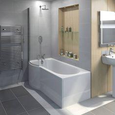 Evesham Shower Bath 1500 x 800 LH Victoria Plumb