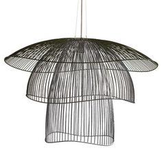 Suspension Papillon Large / Ø 100 cm Noir - Forestier - Décoration et mobilier design avec Made in Design