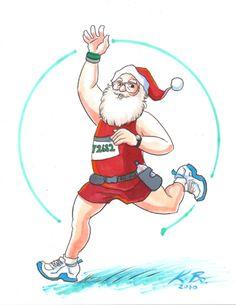 45 Best Santa Runs, Holiday Runs images | Merry christmas, Santa hat ...