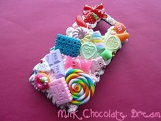 DeviantArt: More Like Pink and Chocolate iPod Touch Decoden Case ...