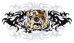 ??? Wikkid Bulldog Royalty Free Stock Vector Art Illustration