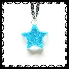 Blue star necklace £5.00