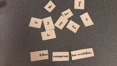Tales from a Spanish Teacher: Sentence pieces! For stations.