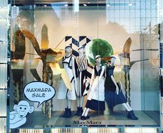 """MAXMARA, Mandarin Orchard, Singapore, """"Cheeky Monkey.... Well why the hell not"""", pinned by Ton van der Veer"""