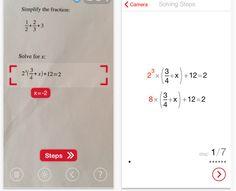 Escanea una ecuación en papel y te da los pasos de la resolución y el resultado