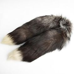 Unisex Multi-Pattern Fur Fox Tail Scarf Collar