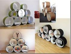 Seis ideas para hacer estanterías recicladas en Bricolage