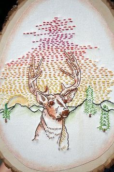 Modern look at embroidery patterns.