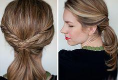 Стильный хвостик для средних и длинных волос: Группа Прически и уход за волосами