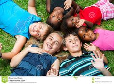 Diverse Group Og Children Laying Together On Grass. - Download From Over 57 Million High Quality Stock Photos, Images, Vectors. Sign up for FREE today. Image: 37781348