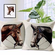 3D Horse Sofa Bed throw pillow case cushions cover home decor capa de almofada quality first