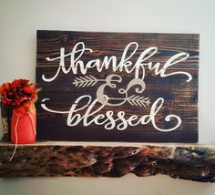This gorgeous sign will be the PERFECT addition to your fall decor. It is approx 24 on reclaimed wood. Thanksgiving Crafts, Thanksgiving Decorations, Fall Crafts, Seasonal Decor, Holiday Crafts, Holiday Fun, Fall Decor, Fall Wood Signs, Fall Signs