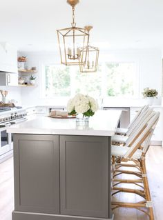 Mobile Home Galley Kitchen Remodel old kitchen remodel before and after.Ikea Kitchen Remodel Before After. Grey Kitchen Island, Gray And White Kitchen, Old Kitchen, Country Kitchen, Kitchen Decor, Kitchen Design, Kitchen Ideas, Kitchen Colors, 1970s Kitchen
