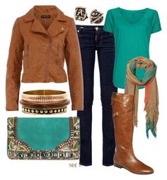 """""""Fall brown"""" by coombsie24 ❤ liked on Polyvore featuring Dsquared2, Dorothy Perkins, MANGO, Kelly Wearstler, Matthew Williamson, A Peace Treaty, Fantasy Jewelry Box, GUESS, skinny jeans and riding boots"""