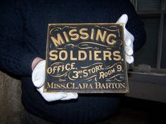 clara barton's missing soldiers office - Google Search