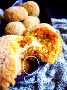 Pečené kuskusové guľky so syrom