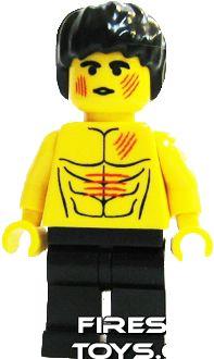 Custom+Lego prts Print Enter the Dragon BRUCE LEE battle damage cuts minifigure