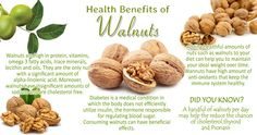 Health Benefits of Walnuts Health Benefits Of Walnuts, Cholesterol, Stay Fit, Diabetes, Vitamins, Healthy Eating, Diet, Recipes, Beauty
