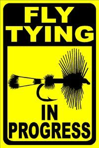 Fly Fishing and Fly Tying Street Signs, Nice Gifts for Fly Fishers and Tyers.
