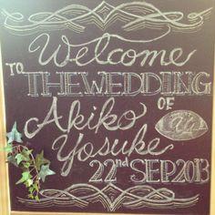 DIY. My wedding welcome board.