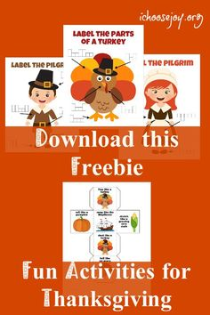 Are you looking for fun activities for kids to do on Thanksgiving Day while you prepare the turkey or make the pumpkin pie? You'll love these fun Thanksgiving printables, games, books, and music. Music Activities For Kids, Thanksgiving Activities For Kids, Thanksgiving Crafts, Educational Activities, Choose Joy, Wife Quotes, Friend Quotes, Quotes Quotes, Homeschooling Resources