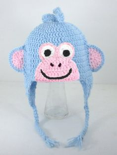 Boots Monkey Earflap Hat from Dora the Explorer, send size baby - adult
