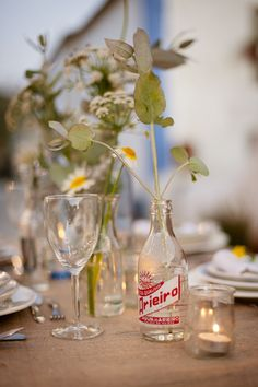 simple centerpiece // photo by Piteira Photography
