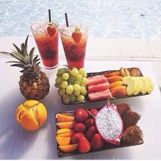 Poolside snacks!