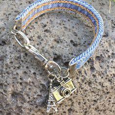Denim Bracelet with Silver Charms - Vacation Charms Denim Bracelet, Fabric Bracelets, Bracelet Crafts, Handmade Bracelets, Fashion Bracelets, Jewelry Bracelets, Bracelet Making, Jewelry Making, Homemade Jewelry