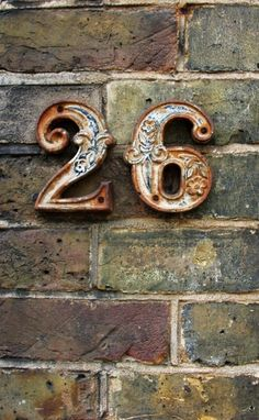 Numerology - Does It Really Work? What's Your Number, Color Cobre, Vintage Numbers, Numerology Numbers, Ceramic Houses, Rusty Metal, House Numbers, Letters And Numbers, Metal Numbers