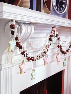 I think I will decorate my mantle like this next year, with the sugar cookies...