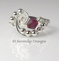 Sterling Silver Ruby Birthstone Crystal by SerendipDesignsJewel, $26.00