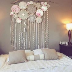 Large dream catcher backdrop free delivery top selling world crochet granny halter top pattern in pdf rainbow etsy Grand Dream Catcher, Large Dream Catcher, Doily Dream Catchers, Custom Wall Murals, Home And Deco, My New Room, Boho Decor, Diy Home Decor, Backdrops
