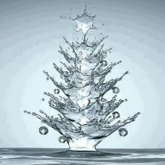 ❥ water droplet Christmas tree
