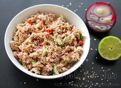 Thai Tuna Salad - I would cut back on the amount of sesame oil used to make it really healthy.
