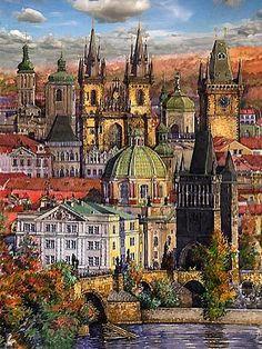 Gallery of artist Yuriy Shevchuk: Colour Giclee Art Print 1 Seascape Paintings, Landscape Paintings, Ukrainian Art, Contemporary Landscape, Street Artists, Beautiful Paintings, Art World, Watercolor Art, Barcelona