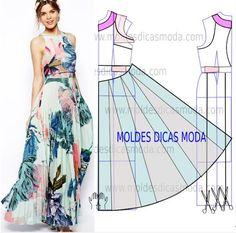 Amazing Sewing Patterns Clone Your Clothes Ideas. Enchanting Sewing Patterns Clone Your Clothes Ideas. Sewing Dress, Dress Sewing Patterns, Diy Dress, Sewing Clothes, Clothing Patterns, Ruffle Dress, Fashion Sewing, Diy Fashion, Costura Fashion