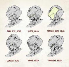 nice gundam heads