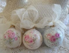 French Roses and Rhinestone Ornaments